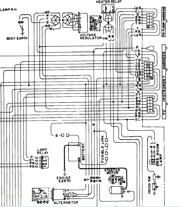 1974AlternatorWiringDiagram saturn alternator how to wire in? electrical ratsun forums Basic Electrical Wiring Diagrams at nearapp.co
