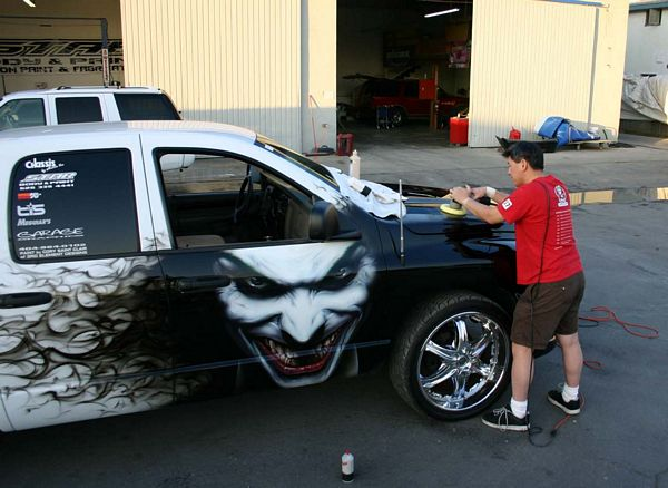 Joker and his own unique style of airbrush artistry, Cory Saint Clair ...